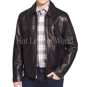 Cool Style Lambskin Leather Coat for Men -  HOTLEATHERWORLD