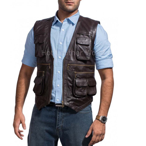 Chriss Pratt Jurassic World Replica Movie Leather Vest