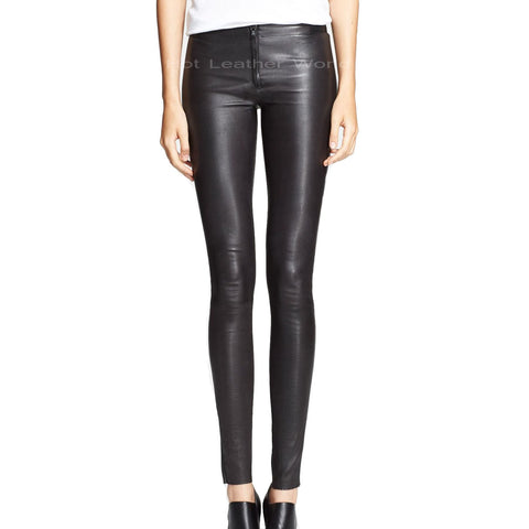 Hot Look Leather Legging For Women