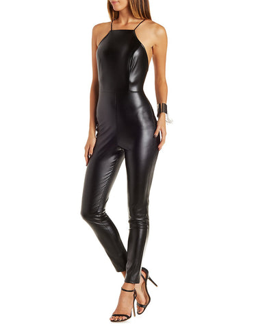 Hot Leather Jumpsuit For Women