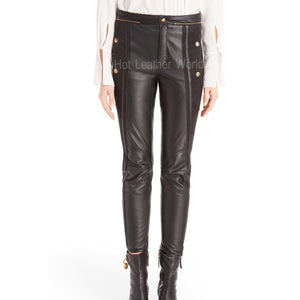 Suede And Lamb Leather Biker Pants -  HOTLEATHERWORLD