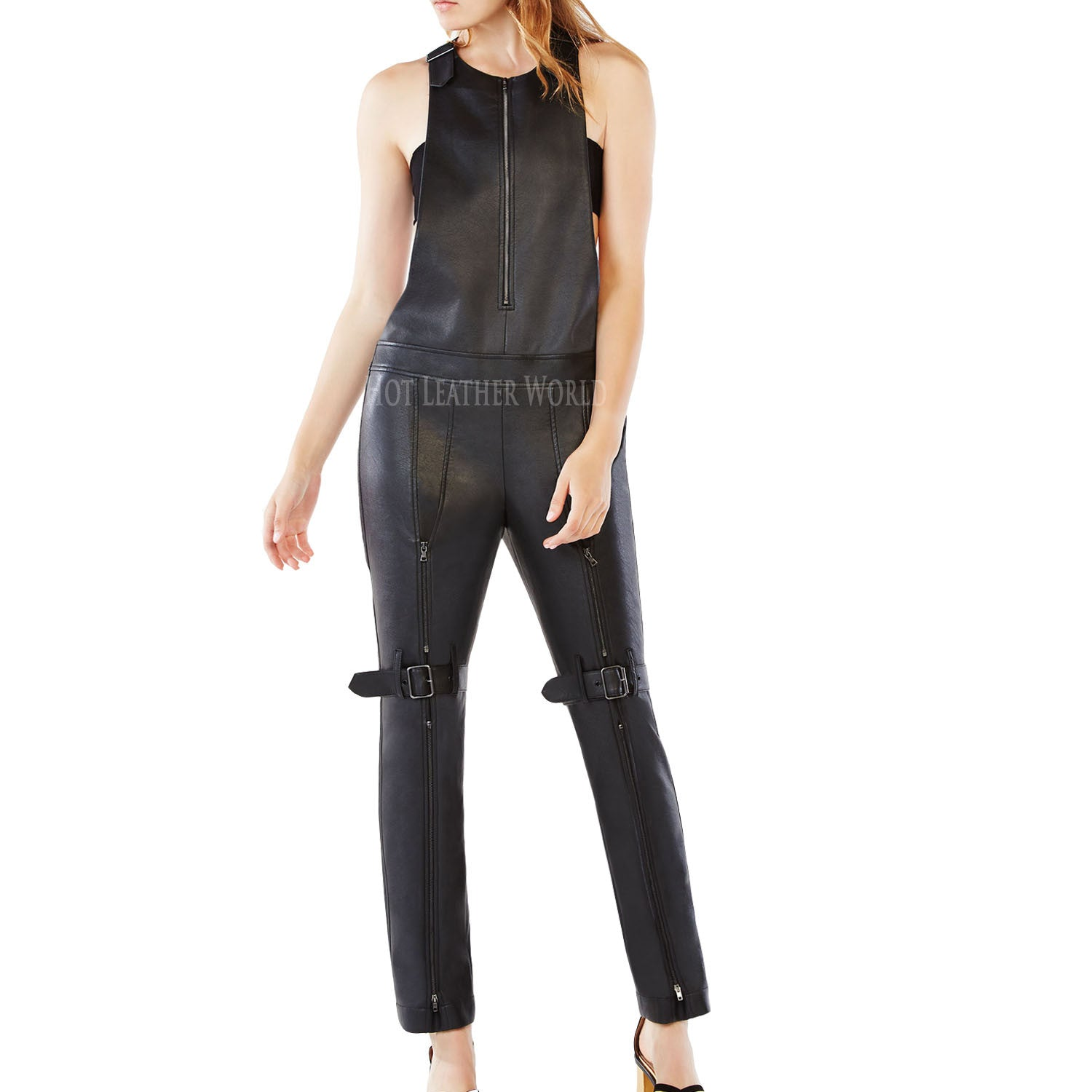 Leather Jumpsuit For Women -  HOTLEATHERWORLD