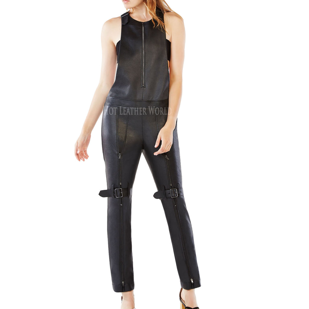 Leather Jumpsuit For Women