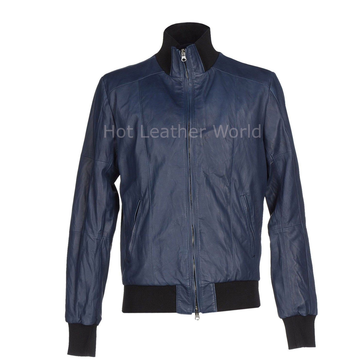 Simplifying Men Leather Bomber Jacket -  HOTLEATHERWORLD