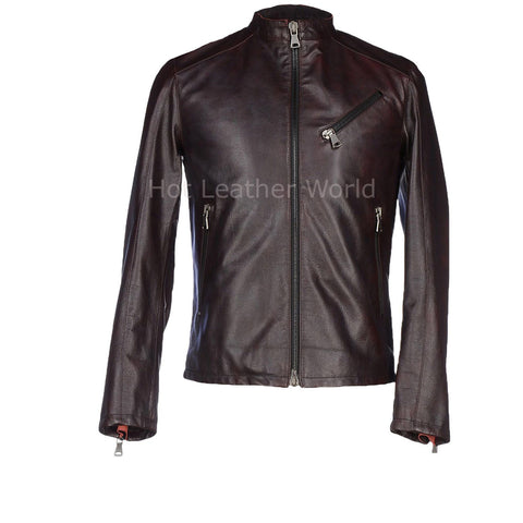 Classic New Style Men Leather Jacket