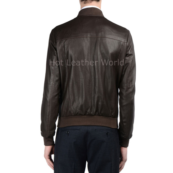 Cool Style Men Leather Bomber Jacket -  HOTLEATHERWORLD