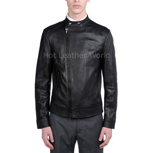 Designer Style Men Leather Jacket -  HOTLEATHERWORLD
