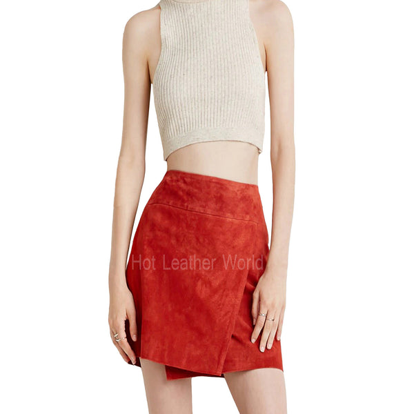Suede Leather Skirt For Women -  HOTLEATHERWORLD