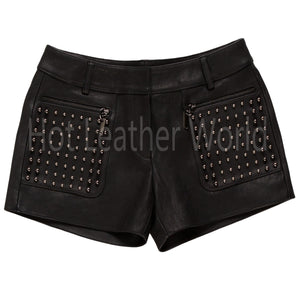 Studded Hot Shorts for Women -  HOTLEATHERWORLD