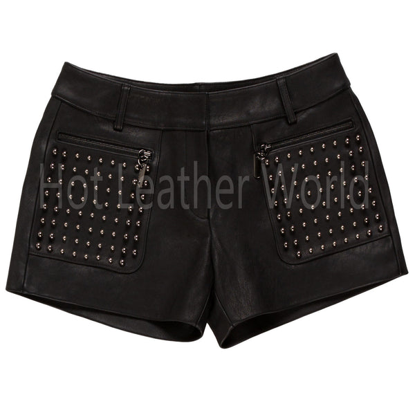Studded Hot Shorts for Women