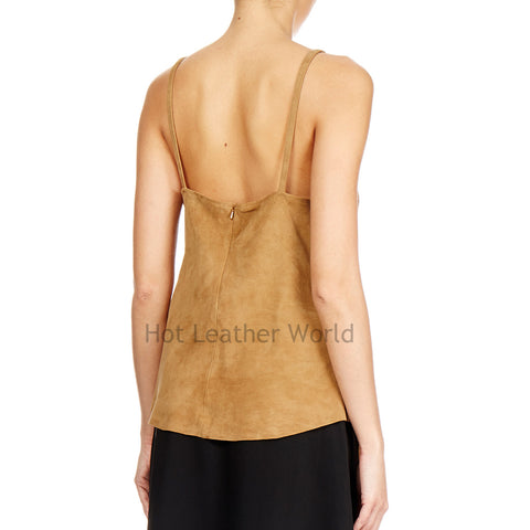 Suede Fringed Style Top -  HOTLEATHERWORLD