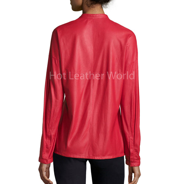 Long-Sleeve Snap-Front Leather Shirt -  HOTLEATHERWORLD