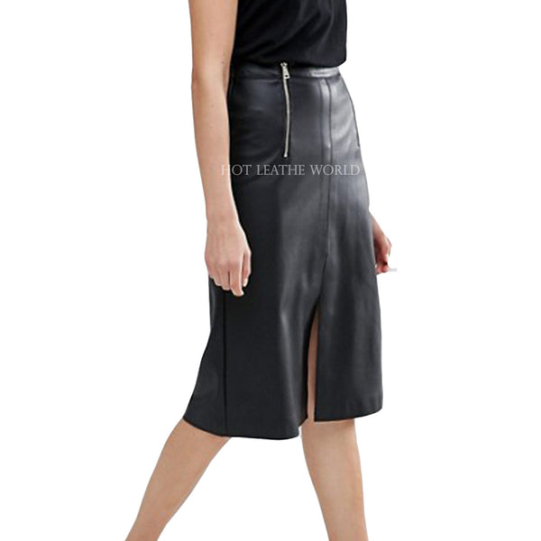 Cool Style Faux Leather Skirt -  HOTLEATHERWORLD