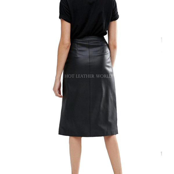 Cool Style Faux Leather Skirt
