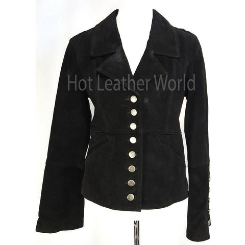 Genuine Leather Suede Military Jacket