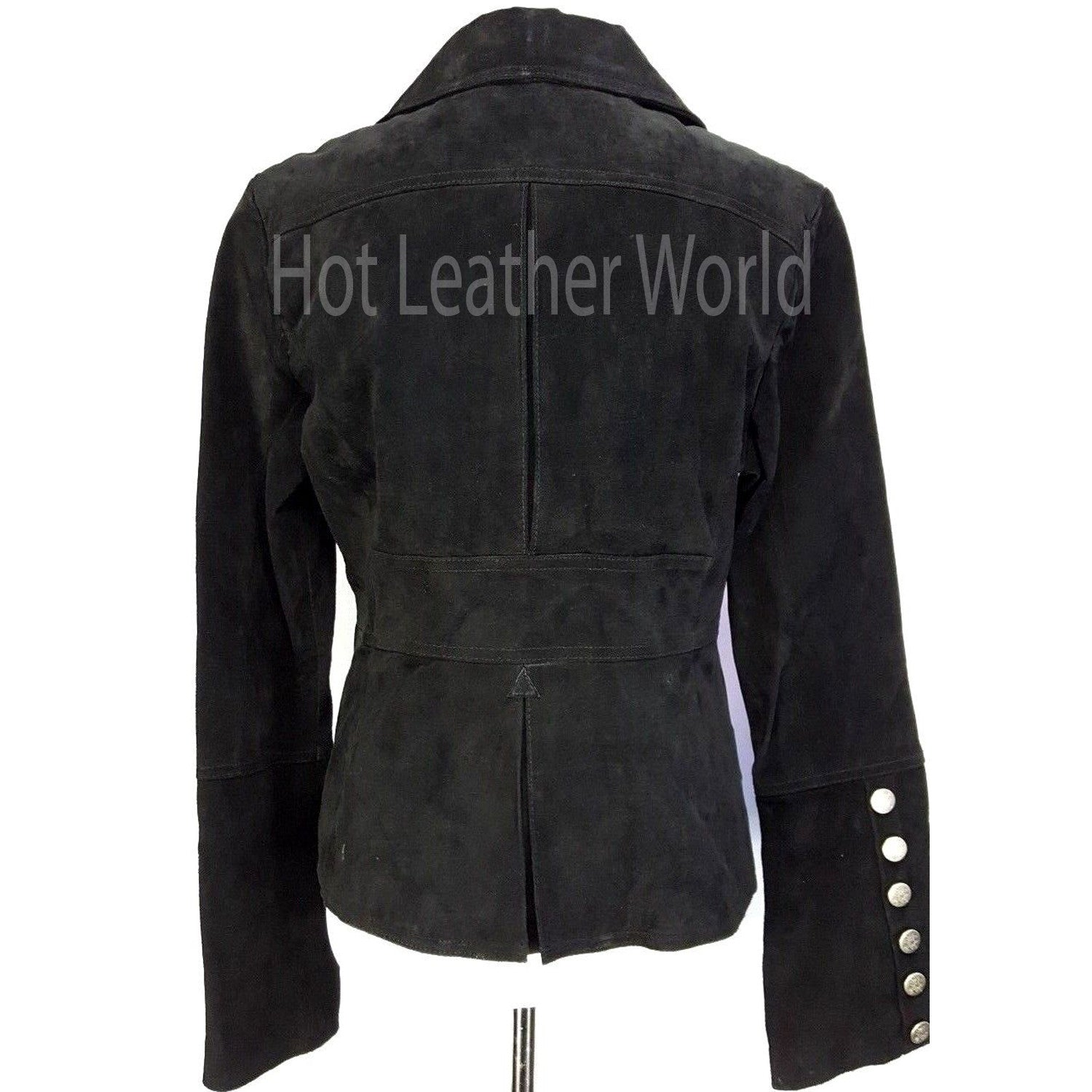 Genuine Leather Suede Military Jacket -  HOTLEATHERWORLD