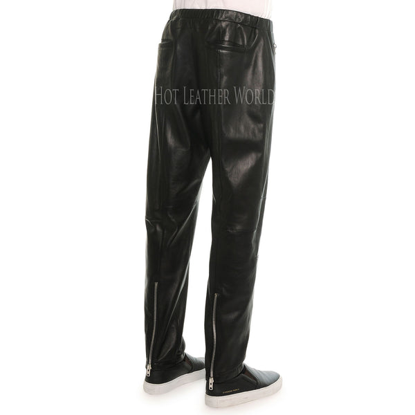 Classic Style Men Leather Pant -  HOTLEATHERWORLD