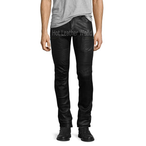 Biker Men Leather Pants -  HOTLEATHERWORLD