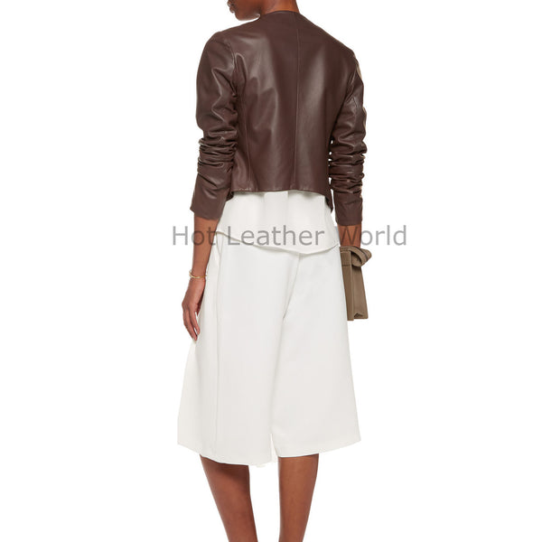 Stylish Women Leather Jacket -  HOTLEATHERWORLD