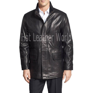 LAMBSKIN LEATHER COAT FOR MEN -  HOTLEATHERWORLD