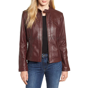 Coolest Women Biker Leather Jacket -  HOTLEATHERWORLD
