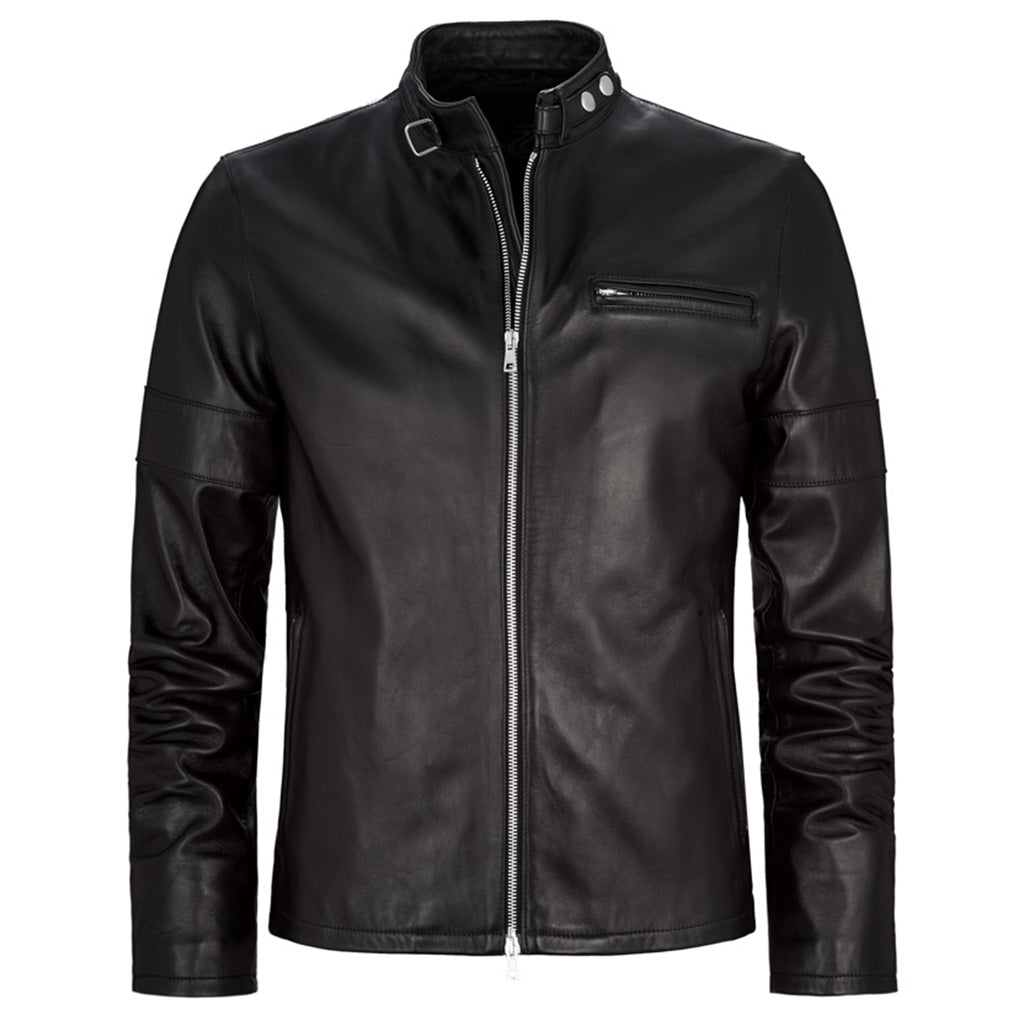 Truly Classic Men Biker Leather Jacket -  HOTLEATHERWORLD