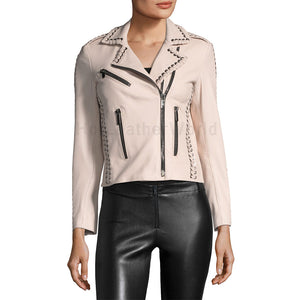 Awesome Detailed Cropped Women Motocycle Leather Jacket -  HOTLEATHERWORLD