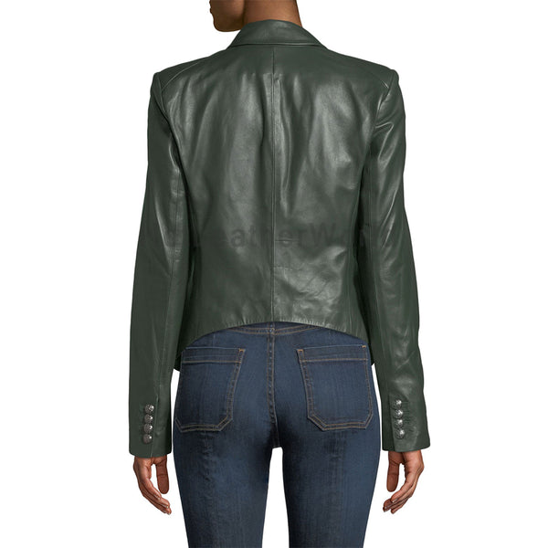 Stunning Looking Women Leather Blazer -  HOTLEATHERWORLD