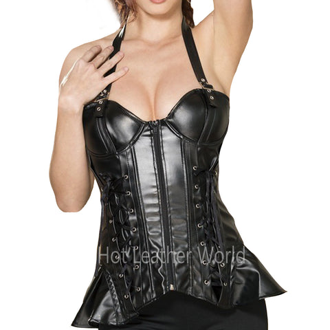 Sexy Hot Style Leather Corset -  HOTLEATHERWORLD