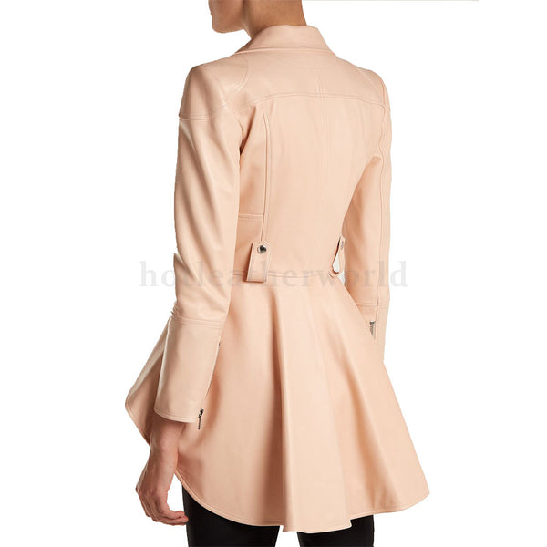 Designer Styled Peplum Women Leather Jacket -  HOTLEATHERWORLD