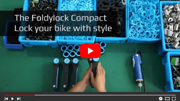 How the compact Foldylock strong folding bicycle lock works