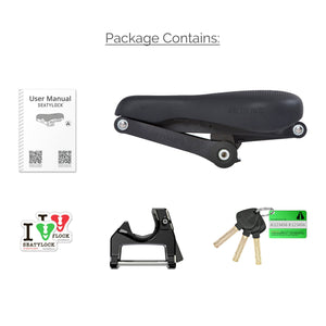 Carton of 4 Seatylocks Trekking Chameleon Black In Store (4*SL001TRCHBK-IS)