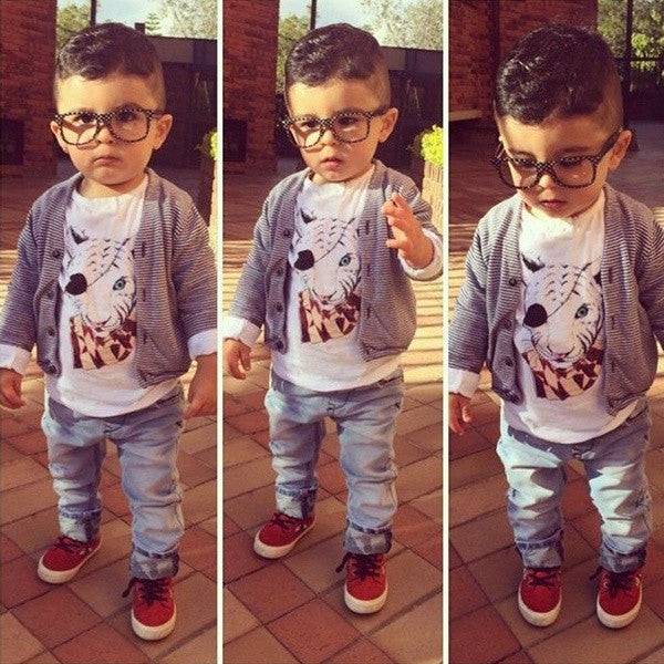 753cc5fef11f New Cute Boys Clothing Kids Boys Three Pieces Clothing Set Striped ...