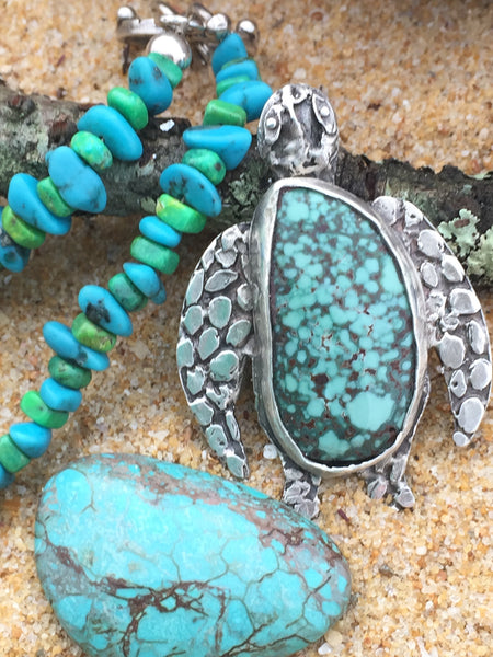 What do you get when you mix tears of joy with rain and mother earth? Turquoise.