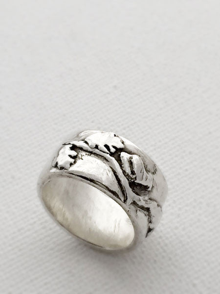 Wabi Sabi Bird Ring