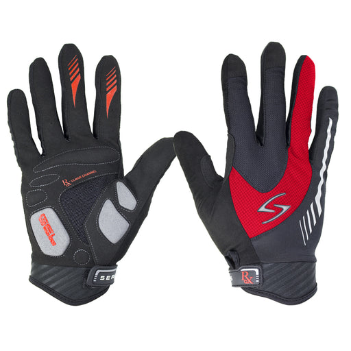 Serfas Men's Red RX Long Fingered Glove