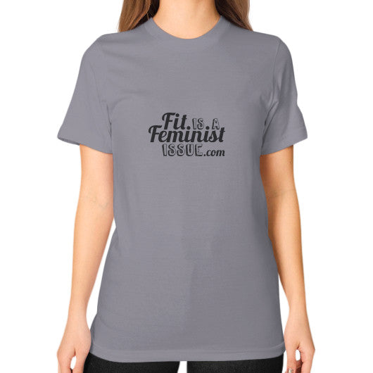 Fit is a Feminist Issue T-Shirt Slate fitisafeministissue