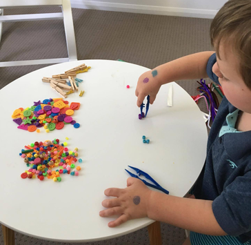 Activities to encourage fine motor skills