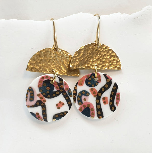 Tilly Earrings - Coral