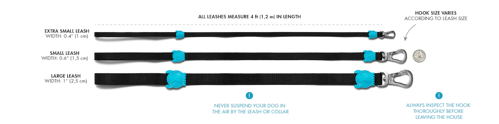 Zee.Dog Dog Leash Sizes