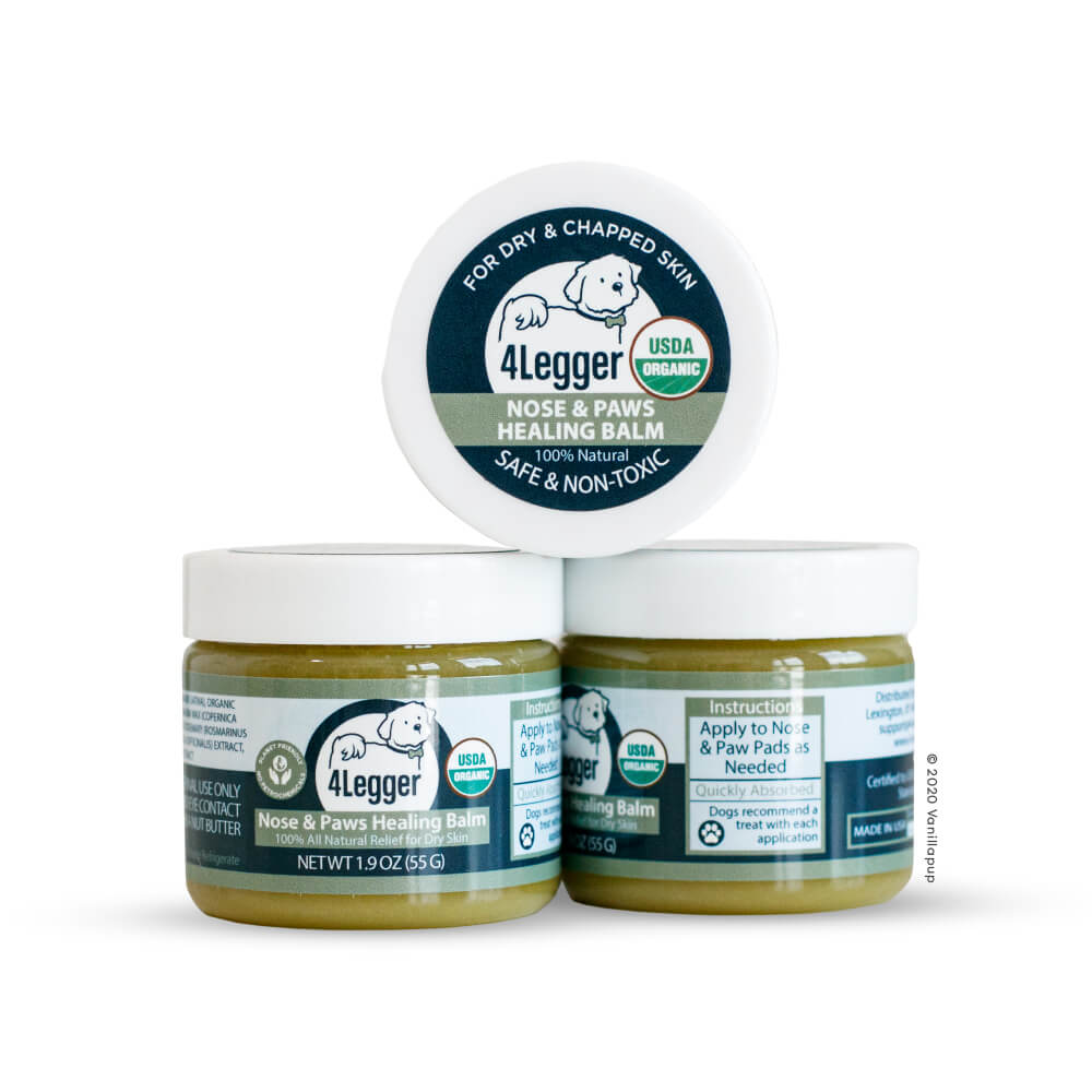 4-Legger USDA Certified Organic Healing Balm for Nose and Paws - 4-Legger, Dogs, Grooming Essentials, Hot Spots, New, Skin, Starter Pack - Vanillapup - Online Pet Shop