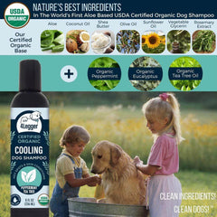 4-Legger USDA Certified Organic Cooling Dog Shampoo | Tea Tree & Peppermint - Vanillapup Online Pet Shop