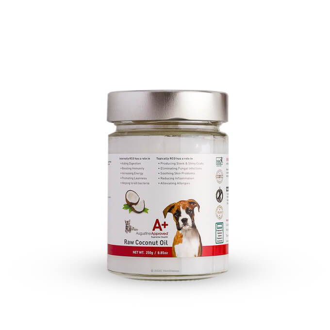 Augustine Approved Certified Organic Raw Coconut Oil | 250g - Augustine Approved, Dogs, Grooming Essentials, Skin, Supplements, Yeast - Vanillapup - Online Pet Shop