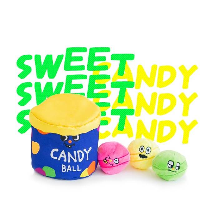Bite Me Sweet Candy Jar Nose Work Toy - Vanillapup Online Pet Store