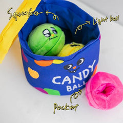 Bite Me Sweet Candy Jar Nose Work Toy - Vanillapup Online Pet Shop