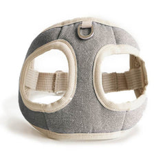 Bite Me Soft Step-In Dog Harness (Grey)