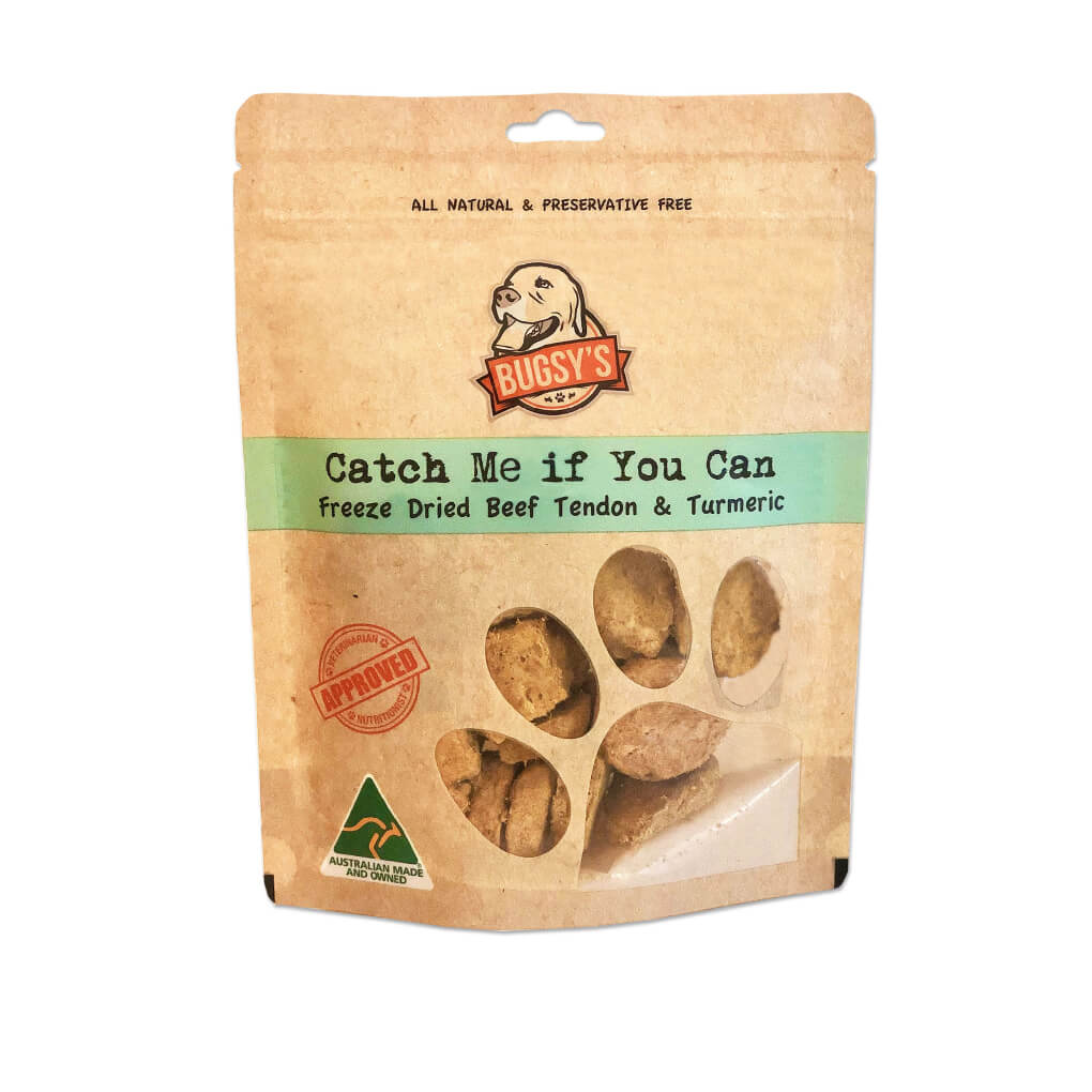 Bugsy's Beef Tendon with Turmeric Dog Treats | 70g - Bugsy, Dogs, New, Treats - Vanillapup - Online Pet Shop