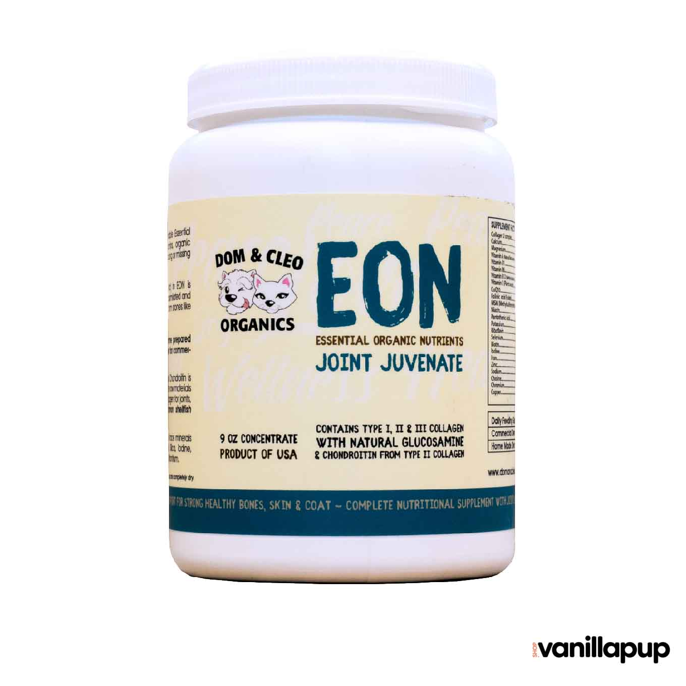 Dom & Cleo Organics EON Joint Juvenate Supplement - Cats, Dogs, Dom & Cleo Organics, Health, Joint, Supplements - Shop Vanillapup