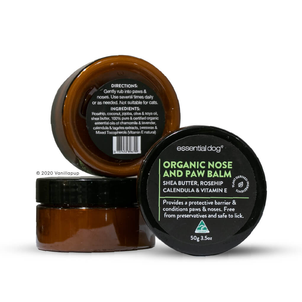 Essential Dog Organic Nose and Paw Balm (50g) - Vanillapup Online Pet Shop