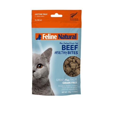 Feline Natural Beef Healthy Bites Treats (50g) - Cats, Feline Natural, Treats - Shop Vanillapup - Online Pet Shop